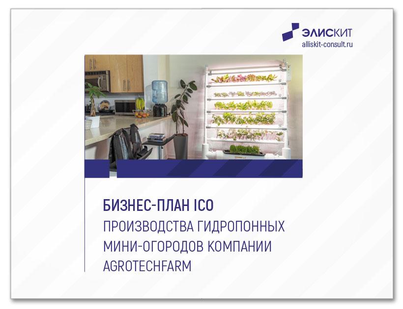 Бизнес-план ICO производства гидропонных мини-огородов